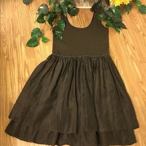 A Common Thread Brown Satin/Cotton Dress S